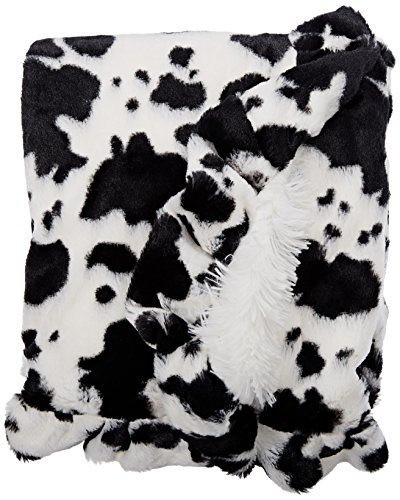 BESSIE-AND-BARNIE-Pet-Blanket-Medium-Snow-WhiteSpotted-Pony-with-Ruffle