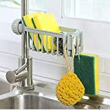 Tjackson Kitchen Sink Faucet Sponge Soap Holder Drain Rack Storage Organizer Shelf