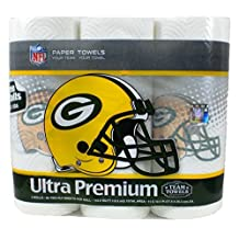 Team Towels Green Bay Packers Paper Towels Pack of 3 Big Rolls