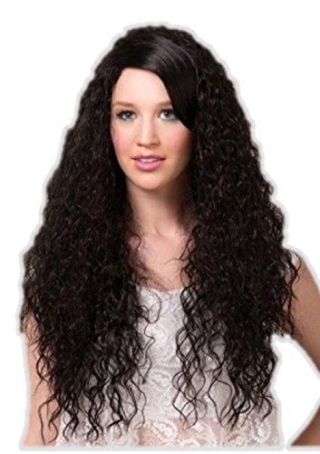 Rock Star And Diva Long Gloves (Blush Nova Onyx Black Long Curly Costume Wig Adult Fantasy Style)