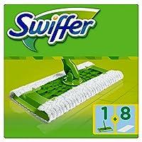 Swiffer Kit, 1 Scopa e 8 Panni a Secco per il Pavimento
