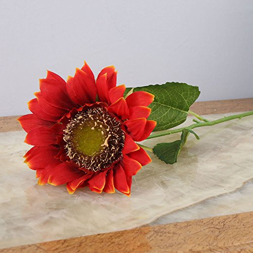 (Toifucos 5 pcs Artificial Sunflower Artificial Flower Silk Flower Fake Plant for Wedding Office Living Room Decorations, Orange)