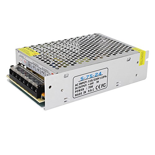 24v 3a Battery (NeeKeons AC 110V-240V To DC 24V 3A(72W) Switching Power Supply Transformer Regulated for LED Strip light, CCTV, Radio, Computer Project etc (24V3A))