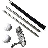 LIOOBO 1 Juego de Entrenamiento de Putter de Golf Pelota de Golf de Aleación de Aluminio Club de Golf Ejercicio Desmontable Varillas de Empuje de Golf Suministros