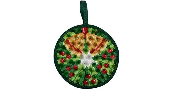 Amazon Com Christmas Wreath Christmas Ornament Needlepoint Kit