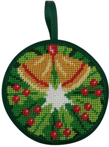 Christmas Wreath Christmas Ornament - Needlepoint Kit (Wreath Needlepoint)