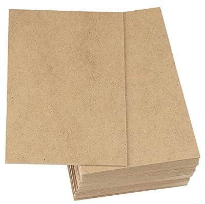 MDF Board - 30-Pack Wood Board, Medium Density Fibreboard, Hardwood Board, Brown, 5.875 x 7.875 x 0.0785 Inches