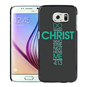 Provide Personalized Customized Bible Verse (8) Black Samsung Galaxy S6 G9200 Phone Case
