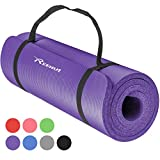 REEHUT 1/2-Inch Extra Thick High Density NBR Exercise Yoga Mat for...