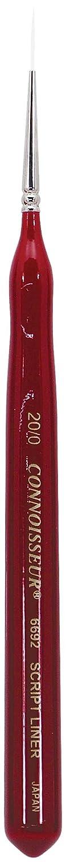Connoisseur White Taklon Mini Detail Brush, 20/0 Script Connoisseur Fine Art Products 6692-20/0