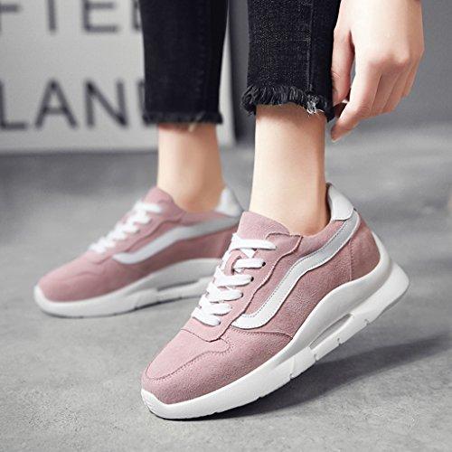 Zapatos Tamaño Calzado HWF Negro Calzado femenino de mujer mujer 39 Calzado deportivo casual para Calzado gruesa Color Pink dqnqPRZB