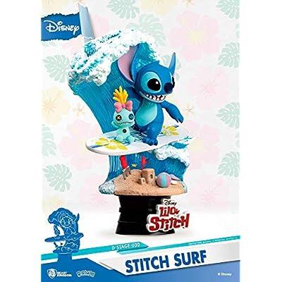Beast Kingdom Disney's Lilo & Stitch Surfs Ds-030 D-Stage Series Statue, Multicolor: Toys & Games