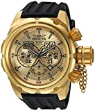 Invicta Men's 'Russian Diver' Quartz Stainless Steel and Silicone Casual Watch, Color:Black (Model: 21628)
