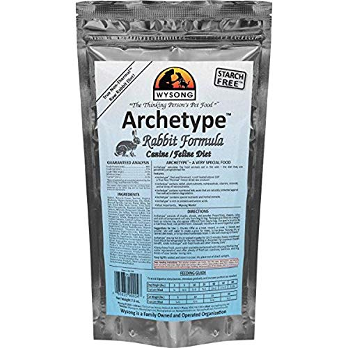 Wysong Archetype Rabbit Raw Formula Canine/Feline Diet Dog/Cat Food- 7.5 Ounce Bag