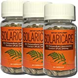 SOLARICARE 60 Cap Bottle 240mg 20:1 whole herb extract of polypodium leucotomos(3 Bottles) Review