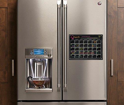 Refrigerator Magnetic Dry Erase Calendar Chalkboard Design