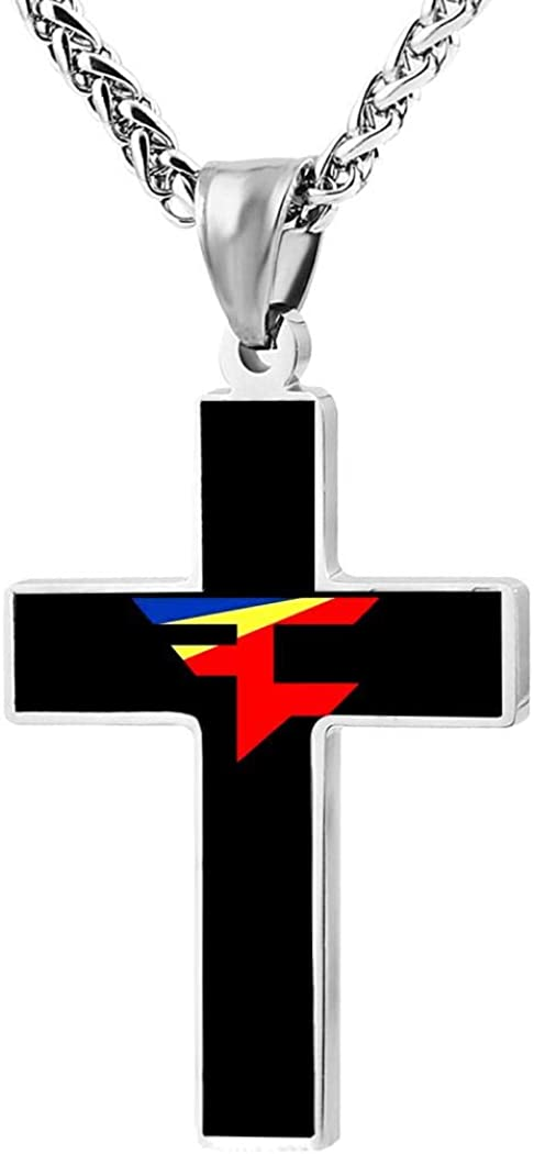 398 FA-Ze Clan Cross Religious Jewelry Flange Pendant Necklace