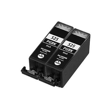 2 negro ECS cartuchos de tinta compatible reemplazar PGI-525 para ...