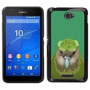EJOY---Cubierta de la caja de protección la piel dura para el ** Sony Xperia E4 ** --Pájaro del kiwi