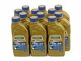 RAVENOL J1C1109-12 SAE 75W-90 Gear Oil - VSG Full Synthetic API GL-4 / GL-5 Spec (1L, Case of 12)