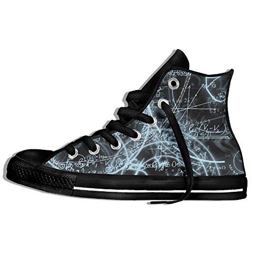 Classiche Sneakers Alte Scarpe Di Tela Anti-skid Math Casual Da Passeggio Per Uomo Donna Nero