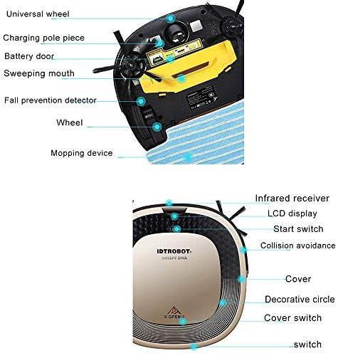 Aspirateur Robot Intelligent, Robot de ménage Ultra Silencieux, Robot aspirateur Auto-Rechargeable, adapté aux Tapis Fins et sols durs