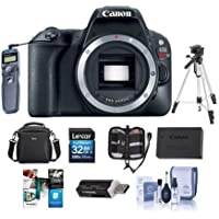 Canon EOS Rebel SL2 DSLR - Black - Bundle w/32GB SDHC Card, Camera Case, Spare Battery, Tripod, Remote Release, Software Package, Cleaning Kit, Memory Wallet, Card Reader
