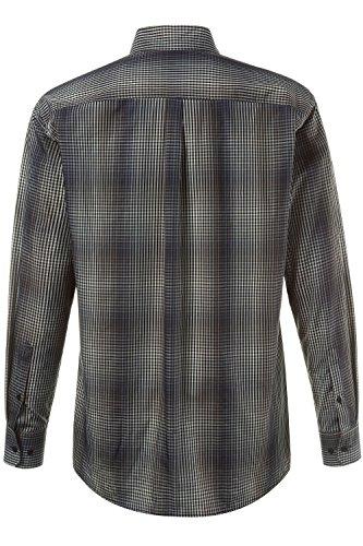 JP 1880 Homme Grandes tailles Chemise à carreaux gris 6XL 706512 12-6XL