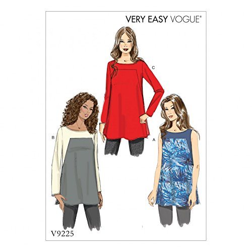 - Vogue Ladies Easy Sewing Pattern 9225 Square Seam Tunic Tops