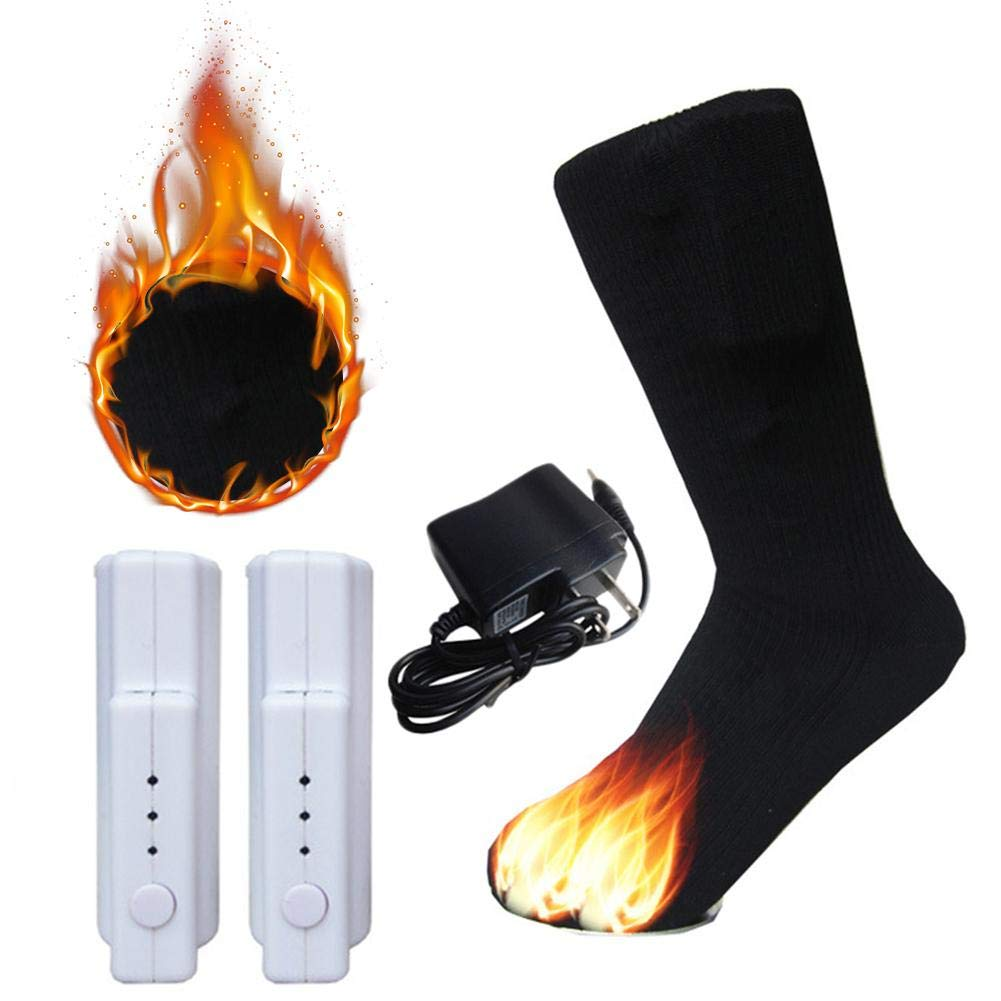 IMSHI Warm Cotton Electric Shifting Socks, Temperature Adjustable Heated Thermal Socks Rechargeable Lithium Battery Winter Foot Warmers for Adults Men & Women IMSHI®