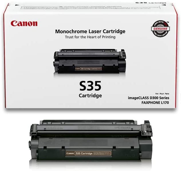 B00008IOQU Canon Genuine Toner, Cartridge S35 Black (7833A001), 1 Pack, for Canon imageCLASS D320, D340, FAXPHONE L170 51EuP9O9BLL.SL1000_