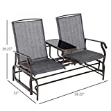 Outsunny 2 Person Outdoor Mesh Fabric Patio Double