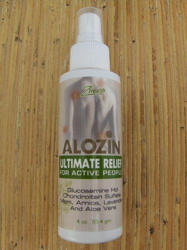 Zion Health Alozin Pain Relief Spray, 4 Ounce