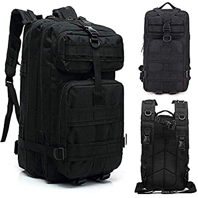 LHI 35L Sports Outdoor Backpack Small Molle Backpack Tactical 1 Day Assault Pack Bug Out Bag for Hiking Camping Hunting