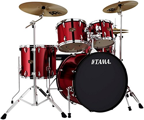 tama-imperialstar-5-piece-drum-set-with-cymbals-vintage-red