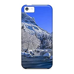 Perfect Mountain River In Winter Cases Covers Skin For Iphone 5c Phone Cases