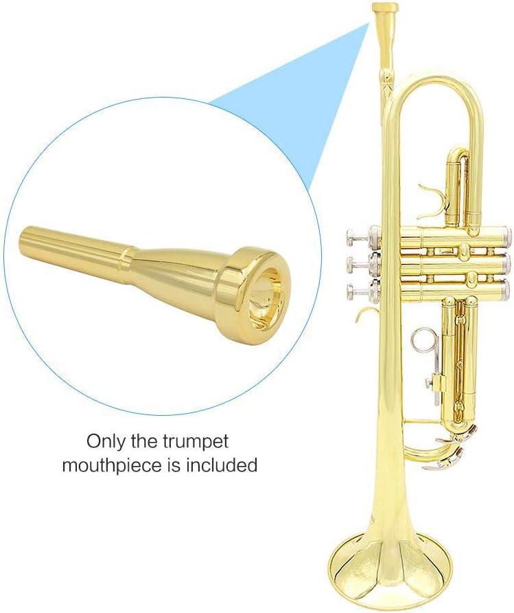 Missmore Embout de trompette Argent 3C 5C 7C Taille Instrument Accessoire pour Bach 7C-Gold