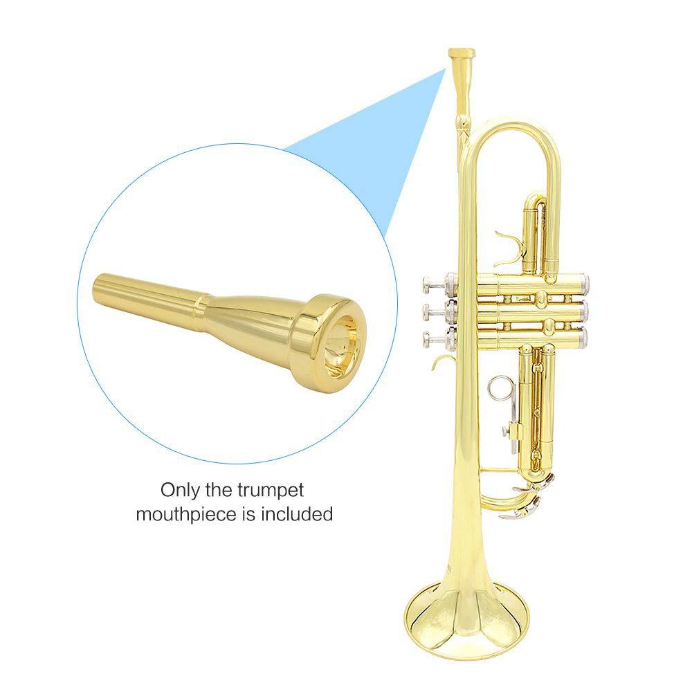 Lot de 3 Gold Embouchure de Trompette 3C 5C 7C Professionnelle en Laiton Accessoire Instrument de Musique