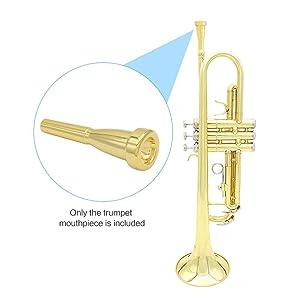 ACCOCO 3C/5C/7C Trumpet Mouthpiece, Copper Material Trumpet Accessories Parts(3 Pack)