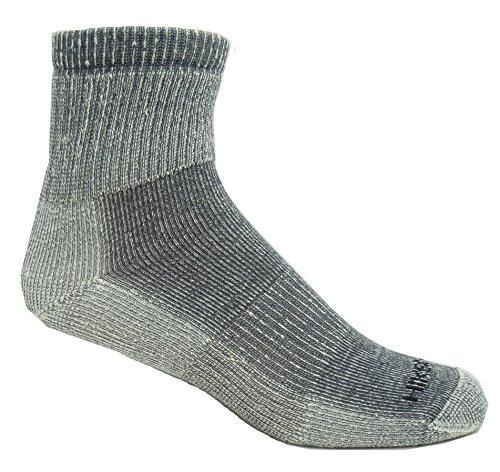 [Super-Wool Hiker GX Low-cut Hiking Socks (3 Pairs) (Medium (5-9 Shoe), Grey)] (Mens Apparel Wool Socks)