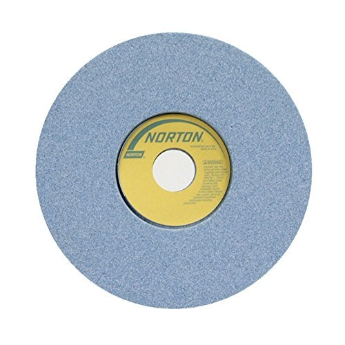 Norton 5SG Vitrified Toolroom Abrasive Wheel, Type 1 Straight, Ceramic Aluminum Oxide, 1-1/4'' Arbor, 8'' Diameter, 1/2'' Thickness, 46-J Grit (Pack of 1) by Norton Abrasives - St. Gobain