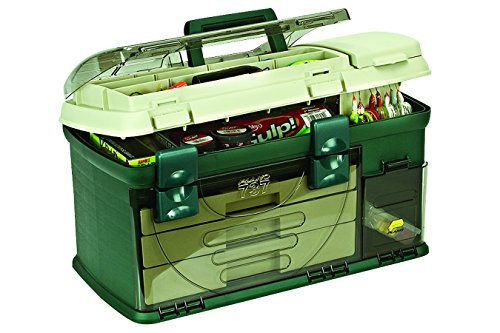 Pro Bait Tackle (Plano 3-Drawer Tackle Box, Green Metallic/Beige)