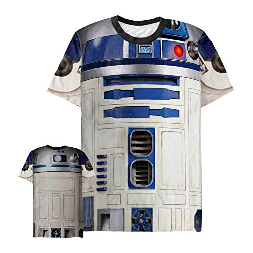 Star Wars Men's R2-D2 Droid Costume Multi-Color All-Over Print T-Shirt -