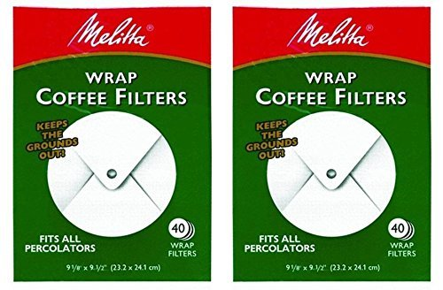 Melitta White Wrap Around Coffee Filter for Percolator (Pack of -