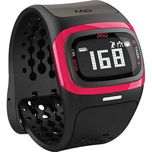 Mio Alpha 2 Activity and Fitness Tracker with Continuous Heart Rate Monitor Watch, Pink/Black, Small/Medium (Non-Retail Packaging)