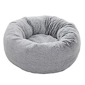 EXQ Home Cat Bed Cat Beds for Indoor Cats Washable Marshmallow Cat Bed, 21 inch Calming Pet Bed for Cats or Small Dogs…
