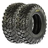 SunF All Terrain Radial ATV UTV Tires 25x8R-12 25x8x12 6 PR A043 (Set pair of 2)