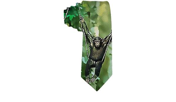 Corbata para hombre S Orangután lindo Swing In Forest Poliéster ...