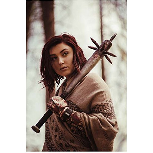 Z Nation (TV Series 2014 - ) 8 Inch x10 Inch Photo Anastasia Baranova w/Spiked Club Over Left Shoulder kn ()