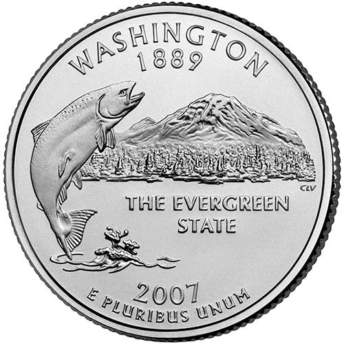 2007 S Clad Proof Washington State Quarter Choice Uncirculated US Mint